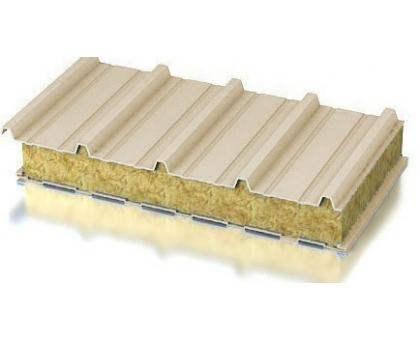 Панель стеновая ( базальтовая вата НГ плот90-104кгм3 ) Ширина 1150-1200мм, 80мм