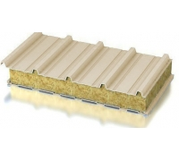 Панель стеновая ( базальтовая вата НГ плот90-104кгм3 ) Ширина 1150-1200мм, 125мм