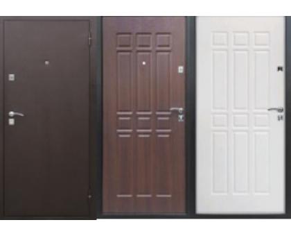 Металлическая дверь Сопрано 6,8 см дуб шоколадный, дуб молочный; 2 петли 2050x860(960)x68 наполнение пенополистирол