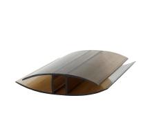 Соединительный н-профиль защелкивающий, 4-6мм x 6 м, бронза