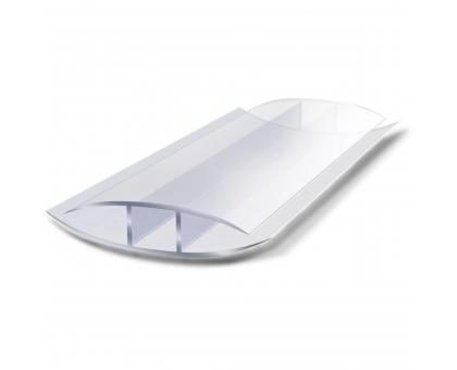 Соединительный н-профиль защелкивающий, 8-10 мм x 6 м, прозрачный