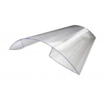 Поликарбонатный коньковый профиль PR-профиль 16 мм x 6 м, прозрачный