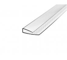 Поликарбонатный торцевой U-профиль 10 мм x 2,1 м, прозрачный