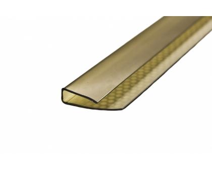 Поликарбонатный торцевой U-профиль 10 мм x 2,1 м, бронза