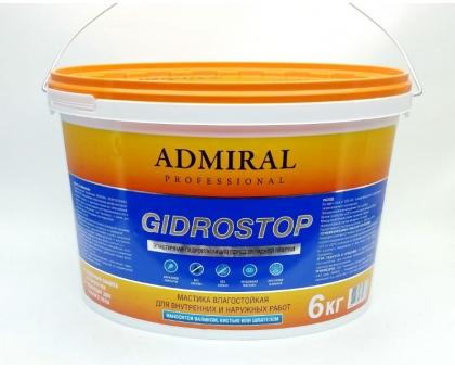 Мастика акриловая GIDROSTOP ADMIRAL 6кг