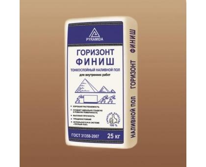 Самонивелирующаяся смесь Горизонт «Финиш» (3-30 мм.) 25кг для наруж. работ.