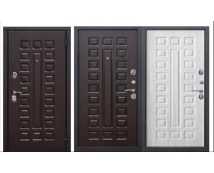 Металлическая дверь Монарх 10 см мдф/мдф Венге, Белый ясень 2050x860(960) наполнение пенополистирол
