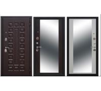 Металлическая дверь Монарх 10см Зеркало (венге, белый ясень) 2050x860(960) наполнение пенополистирол