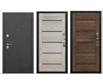 Металлическая дверь Нью-Йорк 7,5 см (царга дуб санремо светлый, дуб санремо темный) 2050x860(960) наполнение пенополистирол