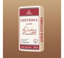 Белый клей для керамической плитки и мозайки «Оптима» 25 кг (адгезия 0,5 Мпа)