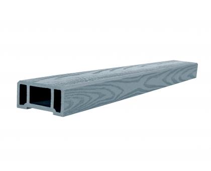 Поручень (текстура дерева или 3D фактура мелкой полоски) POLIVAN GROUP коллекция DENPASAR (45*90*3000 мм) из ДПК сер.