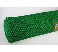 Пластиковая сетка ПВХ зеленая 1,5мx20м (ячейка 5x5см)