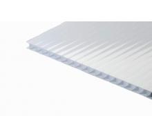 Сотовый поликарбонат gross-pc, 4 мм, 2 стенки, молочный, уф-защита, 2100 х 6000 м