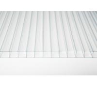 Сотовый поликарбонат gross-pc, 8 мм, 2 стенки, прозрачный, уф-защита, 2100 х 6000 м