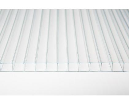 Сотовый поликарбонат gross-pc, 6 мм, 2 стенки, прозрачный, уф-защита, 2100 х 6000 м