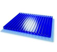 Сотовый поликарбонат Ecovice 6мм, 2 стенки, уф-защита ( синий ) 2100х6000 mm
