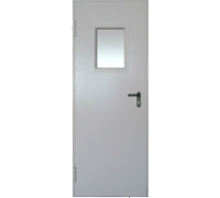 Противопожарная метал дверь 2070x870 (2070x970) огнестойкая минеральная вата ,со стеклом (300x400)