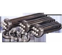 Секции электроводонагревателей ( три ТЭНа на фланце из круга 90мм)  СЭВ 12(новый) резьба G 2 1/2 , 74мм(59мм)