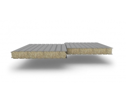 Панель стеновая ( базальтовая вата НГ плот110кгм3 ) Ширина 1180мм, 100мм; замок z-lock