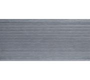 Ступень пустотелая узкая (3D вельвет) POLIVAN GROUP коллекция DENPASAR (24*165*3000 мм) из ДПК сер.