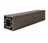 Столб опорный (текстура дерева или 3D фактура мелкой полоски) POLIVAN GROUP коллекция DENPASAR (120*120*3000 мм) из ДПК