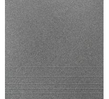 Керамогранит ГРЕС U119 соль-перец темно-серый рельеф 300x300