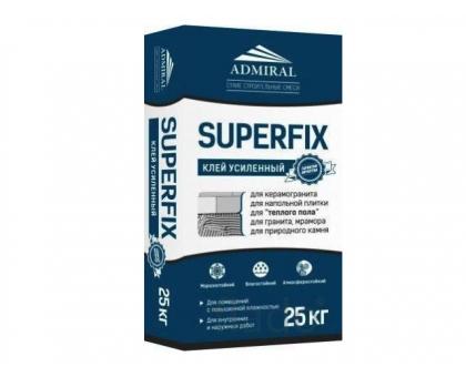 Клей для керамогранита ADMIRAL SUPERFIX Усиленный 25кг