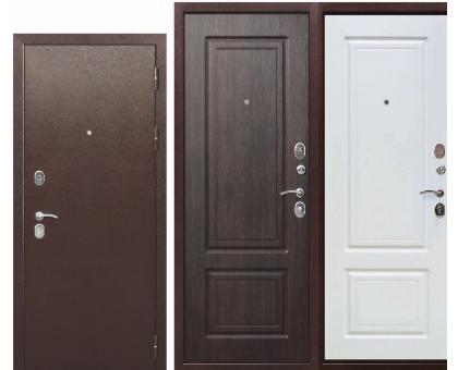 Металлическая дверь Толстяк медный антик, белый ясень/венге 2050x860(960)x100мм наполнение пенополистирол