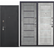 Металлическая дверь Троя муар Бетон, серый царга/Бетон снежный Царга 2050x860(960)x100мм наполнение минеральная плита