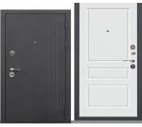 Металлическая дверь Троя муар Ясень белая эмаль 2050x860(960)x100мм наполнение минеральная плита
