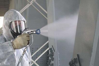 Нанесение огнезащитного покрытия